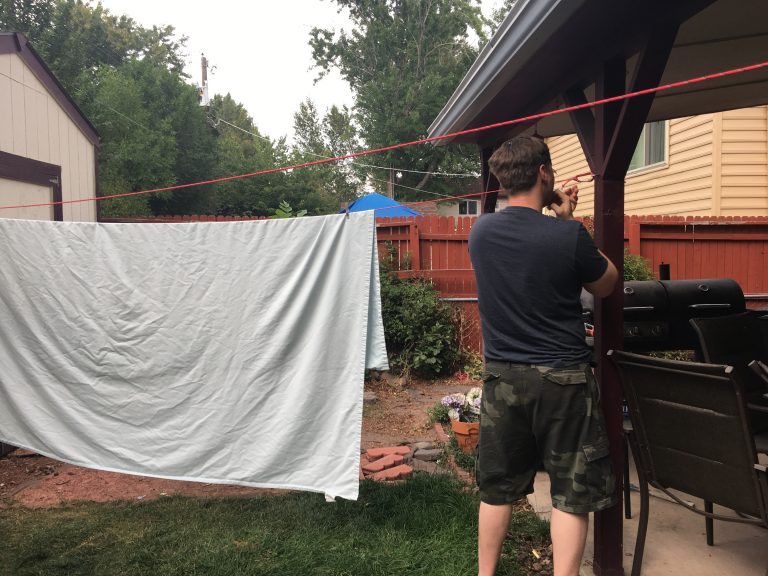 our clothesline install